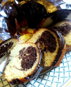 Image of Chocolate Marble Buttermilk Bundt, Chocolate Satin Glaze
